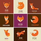 Fox icons, illustrations and elements Royalty Free Stock Photos