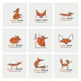 Fox-Ikonen, Sammlung für Ihr Design Lizenzfreie Stockfotos