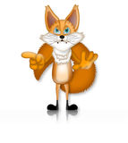 Fox Illustration Character Cartoon 3D. Funny Royalty Free Stock Photo