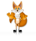 Fox Illustration Character Cartoon 3D. Funny Royalty Free Stock Image