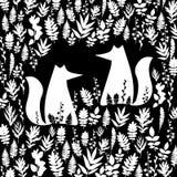 Fox illustration orange wild animal cartoon art vector wildlife Stock Photo