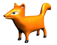 Fox, Isolated_Raster Stock Image