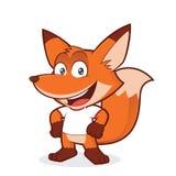 Fox jest ubranym białą t koszula ilustracji
