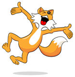 Fox jumping for joy Royalty Free Stock Image