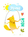 Fox Jumping Rope Stock Images