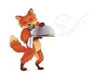 Fox kelner ilustracji