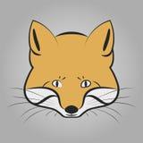 Fox-Kopfikone Lizenzfreies Stockbild