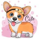 Fox lindo con el chicle ilustración del vector