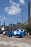 Fox 5 Live New Van in Downtown Sandiego Royalty Free Stock Images