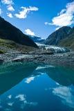 Fox lodowiec w Westland parku narodowym na zachodnim wybrzeżu Nowy Z Obrazy Stock