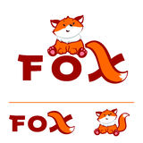 Fox logo. Little Fox Logo design vector template. Creative kids style vector illustration stock illustration