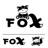 Fox logo. Little Fox Logo design vector template. Creative kids style vector illustration vector illustration