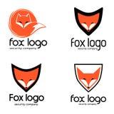 Fox logo polecający dla firm ochroniarska Zdjęcie Royalty Free