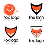 Fox logo recommended for security companies. Vector illustration Royalty Free Stock Photo