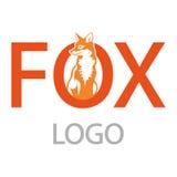 Fox logo. On white background Stock Photo