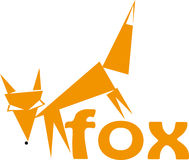 Fox logotype. Fox drawing for use as logotype vector illustration