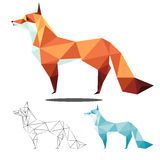 Fox low polygon Royalty Free Stock Image