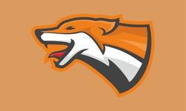 Fox maskotki wektorowy łatwy dla zwyczaju fotografia royalty free