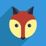 Fox mit einem langen Schatten Stockfotos
