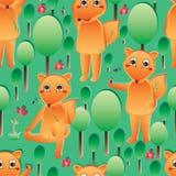 Fox motyli bezszwowy wzór Zdjęcie Royalty Free