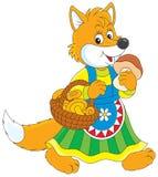 Fox mushroomer Royalty Free Stock Photos