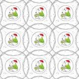 Fox-Muster mit einer Schale Kakao lizenzfreie abbildung