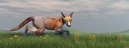 Fox in nature - 3D render Stock Photos