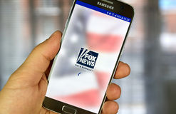 FOX News app on Samsung S7 Stock Images