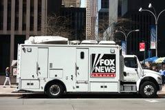 Fox News canaliza el camión Imágenes de archivo libres de regalías