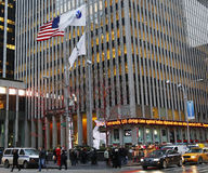 Fox News Sixth Avenue headquarters in Midtown Manhattan. NEW YORK - DECEMBER 19: Fox News Sixth Avenue headquarters in Midtown Manhattan on December 19, 2013 Stock Images