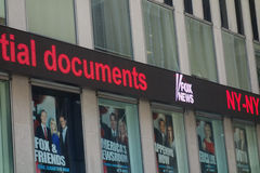 Fox News Ticker royalty free stock photos