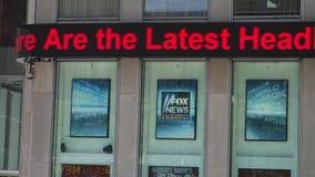 Fox News Ticker Stock Image