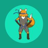 Fox ninja EPS10 Royalty Ilustracja