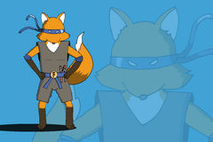Fox ninja EPS10 Ilustracja Wektor
