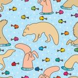 Fox nura ryba abstrakt Zdjęcia Royalty Free
