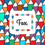 Fox ogonu wzór ilustracja wektor
