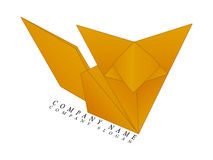 Fox origami logo Stock Photo
