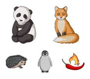 Fox, panda, hedgehog, penguin and other animals.Animals set collection icons in cartoon style vector symbol stock. Illustration Royalty Free Stock Photography