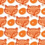 Fox pattern2 Imagem de Stock Royalty Free