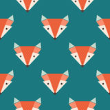 Fox pattern on blue background Royalty Free Stock Photos