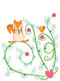 Fox Play Flower Stock Images