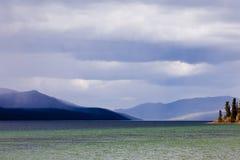 Fox podeszczowych chmur Yukon Jeziorny ciemny terytorium Kanada Obrazy Royalty Free