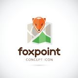 Fox Point Abstract Vector Symbol Icon. Isolated royalty free illustration
