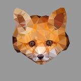 Fox poligonal Imagen de archivo