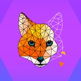 Fox polygon logo / icon. Art illustration royalty free illustration