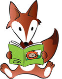 Fox reading Royalty Free Stock Photo