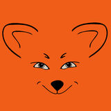 Fox red head animal Sly eyes. Stock Photos