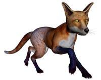 Fox running - 3D render Stock Photography