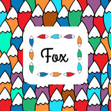Fox's tail pattern Royalty Free Stock Images