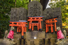 Fox sculpture in Fushimi Inari Shrine, Kyoto, Japan Royalty Free Stock Photos